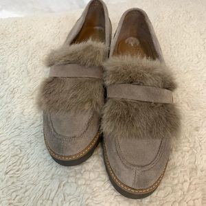 Franco Sarto Loafer with Faux Fur Leather Upper